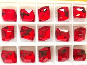 Image 3 - YANRUO 3265 All Sizes Lt.Siam Cosmic Flatback Glass Stones Sew On Rhinestone Crystals Strass For Wedding Dresses
