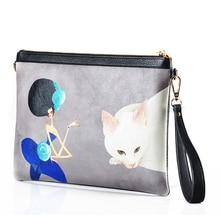 Hand bag women clutch leather bag leather envelope single shoulder bag 35ZQ