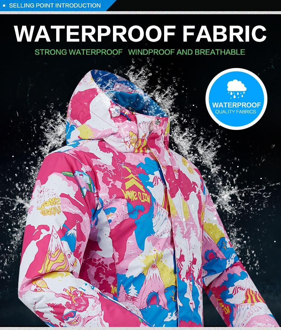 feminino quente ao ar livre esqui e snowboard jaqueta marca