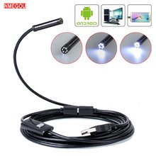 5.5mm / 7mm Waterproof Mobile Endoscope Camera Inspection Flexible Micro Usb Android Borescope Endoskop Kamera Car Snake Cable(China)