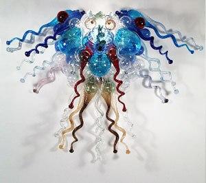 Flower Design Art Murano Glass Contemporary Crystal Chandelier Lighting