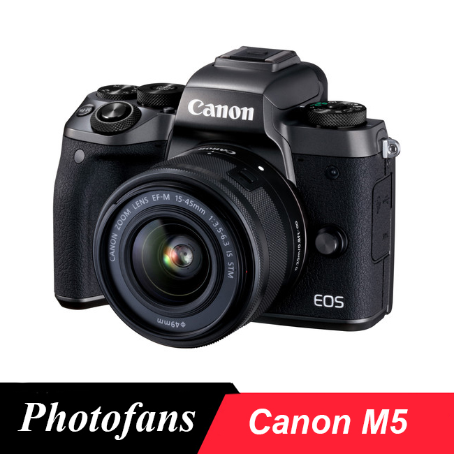 Canon M5 Mirrorless Digital Camera with 15-45mm Lens image