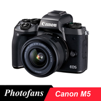 Canon M5 Mirrorless Digital Camera with 15 45mm Lens