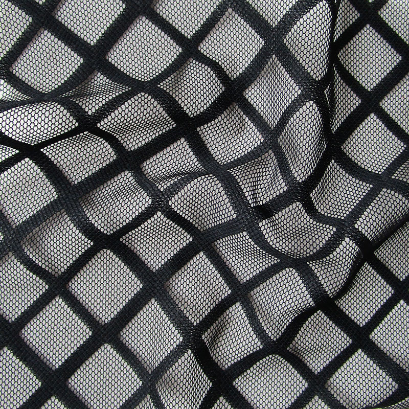 Aliexpress Com Buy French Big Square Openwork Black Mesh