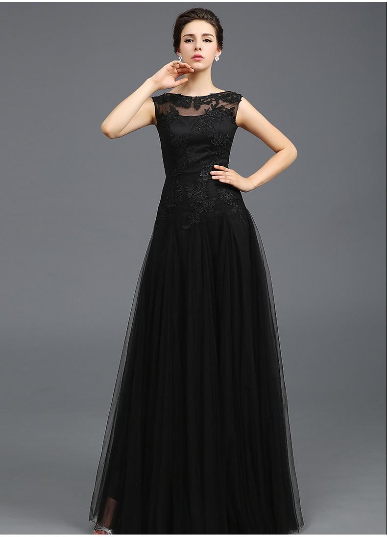 Vestido Noche Largo Negro Ken Chad Consulting Ltd