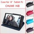 Для Chuwi Hi8 Случае Четыре цвета 8 дюймов Ультра Тонкий PU Флип Кожаный Tablet PC Обложка + Подарок