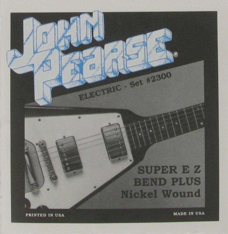 buy john pearse pure nickel ez bend electric guitar strings unwound third. Black Bedroom Furniture Sets. Home Design Ideas