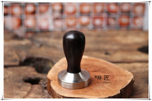 FeiC 1pc Professional Handmade African blackwood wooden Handle 51/58/58.35mm Stainless Steel base Coffee Espresso Tamper Barista