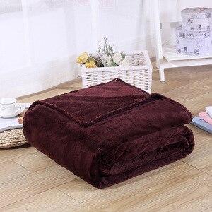 Image 3 - CAMMITEVER 5 размеров Фланелевое однотонное одеяло диван Постельное белье пледы мягкие зимние Плоские простыни для дома