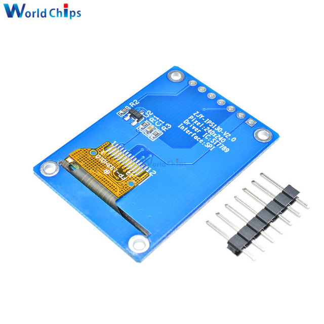 1.3 inch IPS HD TFT ST7789 Drive IC 240*240 SPI Communication 3.3V Voltage 4-Wire SPI Interface Full Color LCD OLED Display DIY 1