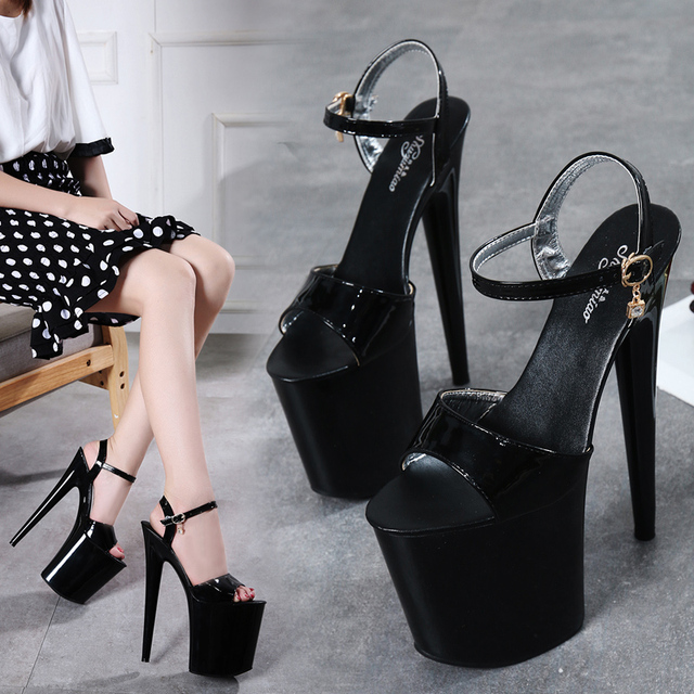 High Heel 20cm Platform 2018 Sandals Girls Posed Steel Pipe Shoes 5