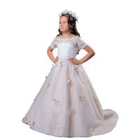 Abaowedding High Quality Short Sleeve Party Girls Evening Dress Performance Kids Dresses For Girls 2 12 Years Old