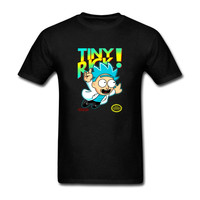 2017 Summer Cool Tiny Rick And Morty Man T Shirt Anime T Shirts Let Me Out