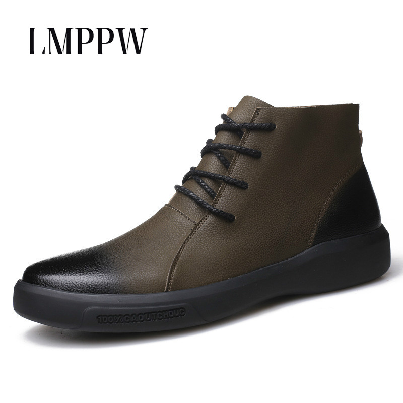 New Style Chelsea Boots Men Genuine Leather Martin Boots Fashion Vintage Motorcycle Boots Luxury Brand Autumn Men Casual Shoes new 2018 men s chelsea boots black color fashion ankle martin boots luxury brand genuine leather zip men boots casual shoes 8