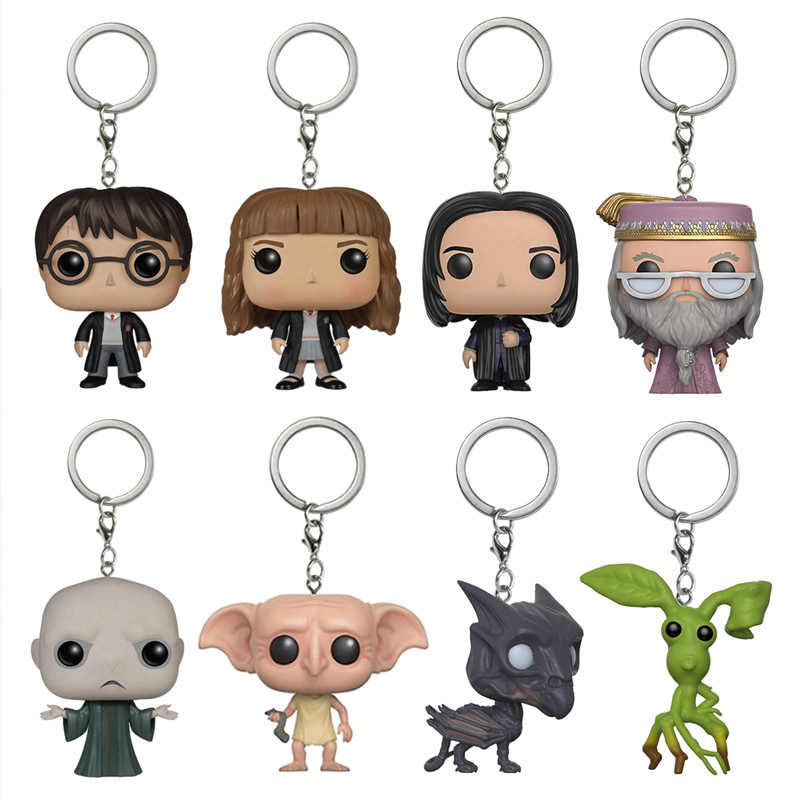 Harri Potter/Hermione/Severus/Dumbledore/Dobby Harri Oleiro Chaveiro Recolhidos Caixa Original Boneca Brinquedos Figuras de Ação