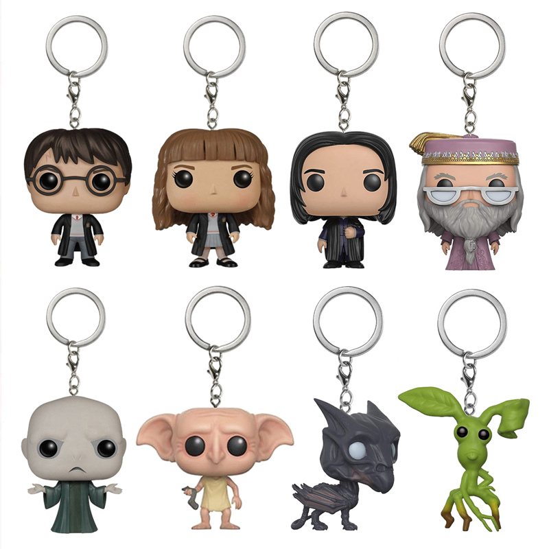Harri Potter/Hermione/Severus/Dumbledore/Dobby Harri Potter Keychain Collected Action Figures Original Box Doll Toys
