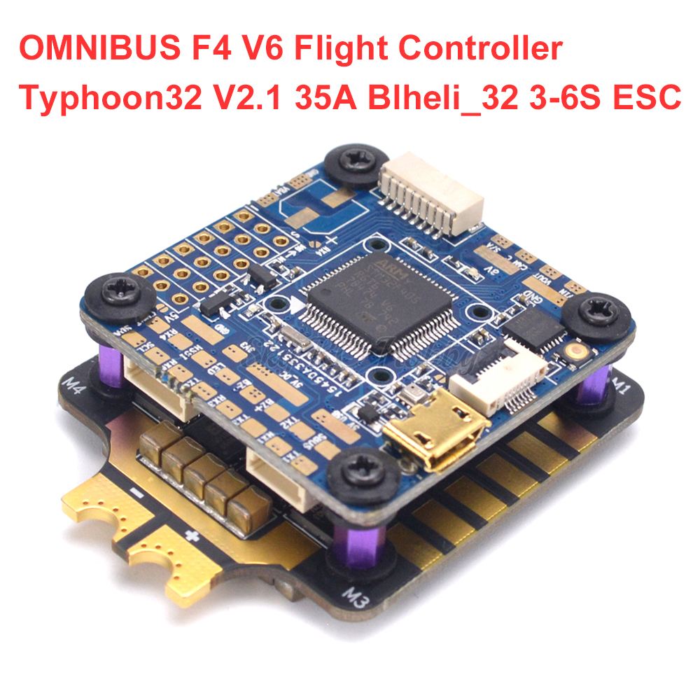 Original Airbot OMNIBUS F4 V6 Flight Controller & Typhoon32 V2.1 35A Blheli_32 3-6S Brushless ESC For RC Drone Models QuadcopterOriginal Airbot OMNIBUS F4 V6 Flight Controller & Typhoon32 V2.1 35A Blheli_32 3-6S Brushless ESC For RC Drone Models Quadcopter