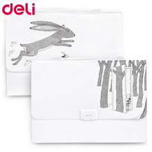 Deli 72461 A4 File Folder portable expanding wallet document bag durable big capacity hand-held 13 pockets elegant file holder marble a4 13 layered expanding wallet big capacity filing bag document file folder multi function business office supplies bags