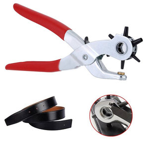 Newly 9inch Hole Punching Machine Punch Plier Round Hole Perforator Tool Make Hole Puncher for Straps Cards Watchband TE889(China)