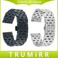20mm 22mm das mulheres dos homens pulseira de aço inoxidável quick release strap para breitling relógio banda correia de pulso pulseira link preto prata