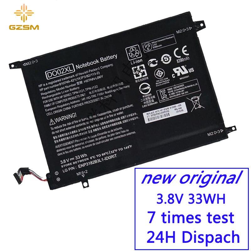 GZSM batterie d'ordinateur portable DO02XL Pour HP 810749-421 810985-005 batterie pour ordinateur portable HSTNN-LB6Y TPN-I121 TPN-I122 Pavillon x2 10 batterie