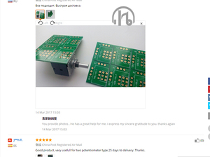 Image 3 - hifi Potentiometer Variable resistor Gold plated PCB board for ALPS 27 Two sided shielding PCB board 100K 50K 10K a lot of 10PCS