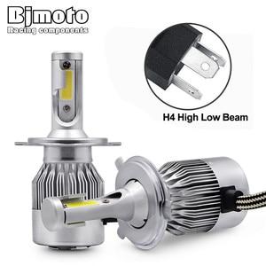 BJMOTO 2Pcs Car C9 Headlight bulb H4 LED