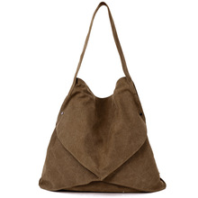 Girl's Zipper Summer Travel Hobos Shoulder Bags Canvas Shopping Messenger BagsGirls's Interior Slot Pocket Handbag