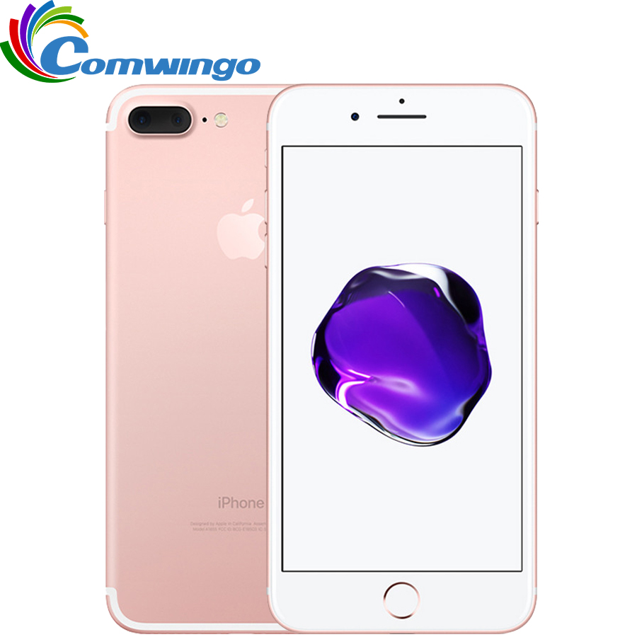 Original Da Apple iPhone 7 Plus Quad-Core de 5.5 polegada 3 GB RAM 32/128 GB/256 GB IOS Telefone LTE 12.0MP Câmera iPhone7 Além da Impressão Digital