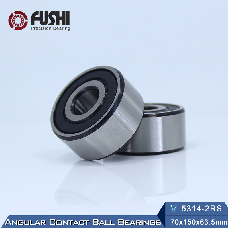 5314 2RS Bearing 70 x 150 x 63.5 mm ( 1 PC ) Axial Double Row Angular Contact 5314RS 3314 2RS 3056314 Ball Bearings s5211 2rs stainless steel double row angular contact ball bearings s3211 2rs size 55x100x33 3mm
