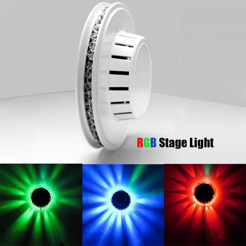 Beautiful Voice-activated RGB Stage Lighting Effect Lamp Colorful Auto Rotating LED Bulb Stage Light Party Disco Lamp eu plug 48 led rgb voice activated auto rotating party stage light transparent ac 90 240v