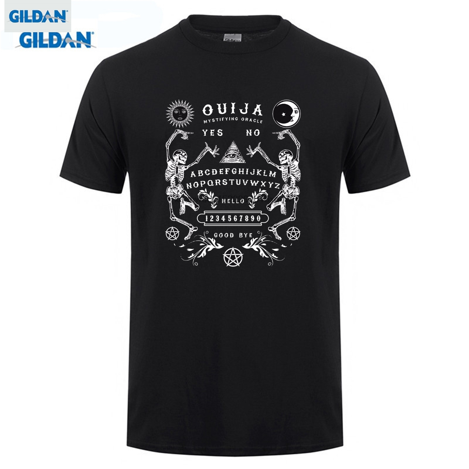 GILDAN Arrival Men Cotton Men Tee Shirt High Quality Ouija Board Skeletons T-Shirt - Direct From Stockist crossfit T-Shirt