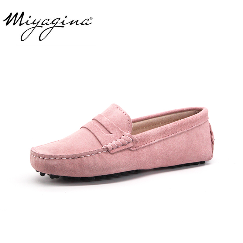 High Quality 2019 New Women Flats Genuine Leather Women Shoes Brand Driving Shoes Spring Summer Women Casual Shoes