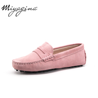 High Quality 2019 New Women Flats Genuine Leather Women Shoes Brand Driving Shoes Winter Spring Summer Women Casual Shoes