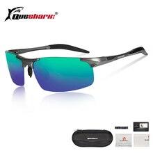 QUESHARK Magnesium Aluminum Polarized Fishing Sunglasses Metal Frame Uv400 Sports Driving Angling Glasses Fishing Eyewear