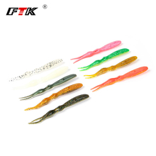 FTK 4Pcs/lot 14cm/10g Smooth worms for Fishing Pesca Swimbait Jig Head Smooth Lure 9 colours Fly Fishing Bait  Fishing Sort out