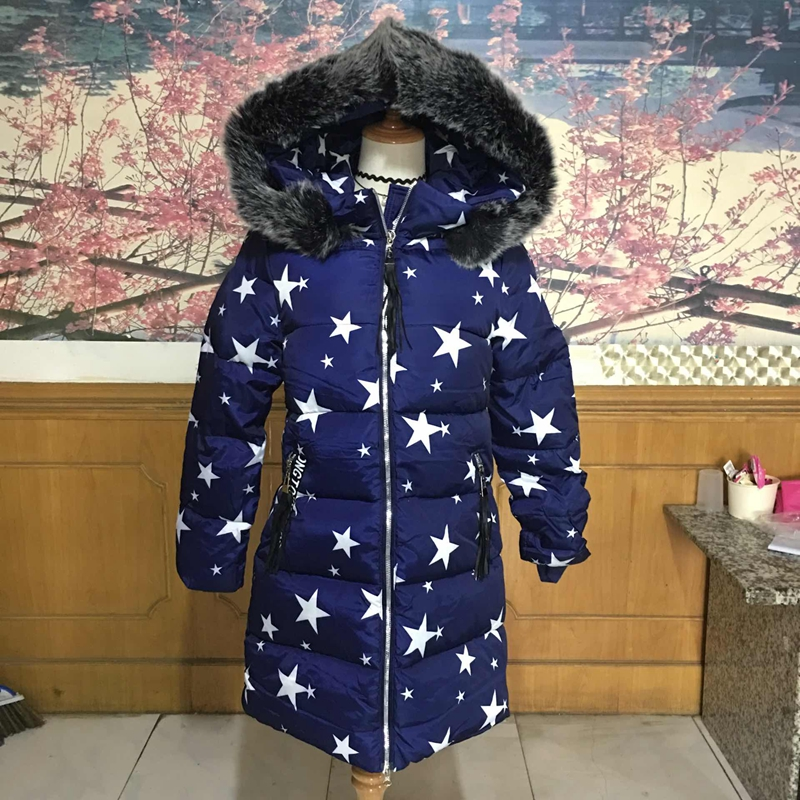 2017 women winter new large Fur collar Hooded coats Female long Slim cotton printing pattern jacket Parkas warm Outwear new winter jacket coats 2017 women parkas long slim thicken warm jackets female large fur collar hooded cotton parkas cm1350