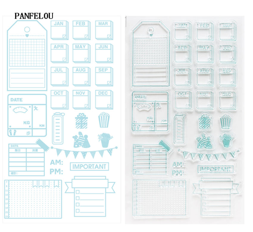 PANFELOU NEW YEAR Time to note Stamp/Seal DIY scrapbooking/photo album Decorative clear stamp sheets