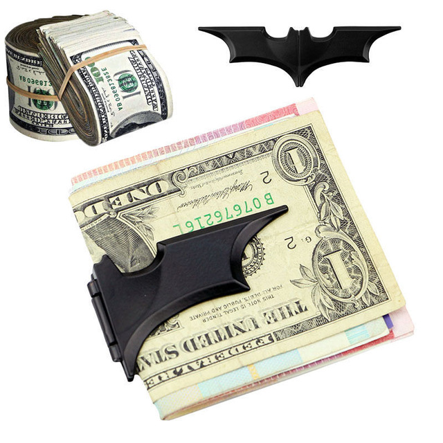 Novelty & Special Use Hard-Working Batman Money Clip Magnetic Folding Card Metal Holder Wallet Christmas Matte Black Arms Special Buy Costume Props