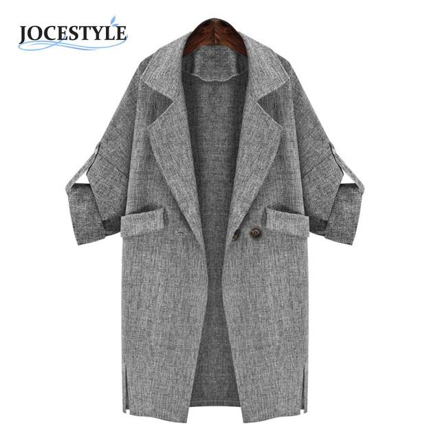 Мода Slim fit Женщины Повседневная Негабаритных Длинный Рукав Пальто удобный Материал Ветер пальто Кардиган Топ Осень Зима
