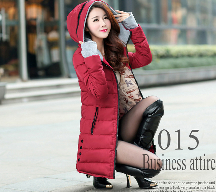 HTB1DDErXDZRMeJjSspnq6AJdFXa1 2019 women winter hooded warm coat slim plus size candy color cotton padded basic jacket female medium-long jaqueta feminina