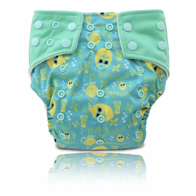 Cool Lemonade! JinoBaby aio Pañal De Bambú para 3KGS PARA 17KGS (Bebé Recién Nacido Pañal con 1 UNIDS Insertar)