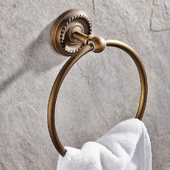 Akcesoria łazienkowe ścienne ręcznie uchwyt na ręczniki antyczny mosiądz wieszak na ręczniki ścienny wieszak na ręczniki łazienka akcesoria sprzętowe tanie i dobre opinie Pierścienie ręcznik Mike Jake Brązu Miedzi 3318
