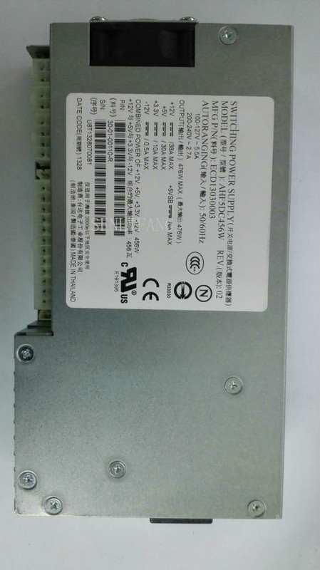 100% Working Power Supply For AHF5DC456W 476W Fully Tested