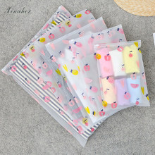 fruit pattern Clear Plastic Storage Bag Ziplock Travel Bags Zip Lock Valve Slide Seal Packing Pouch For Cosmetic Clothing(China)