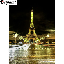 Dispaint Full Square/Round Drill 5D DIY Diamond Painting Tower street light Embroidery Cross Stitch 3D Home Decor A10650