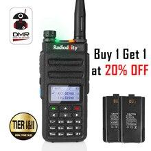 Radioddity GD-77 DMR Dual Time Slot Dual Band Цифровой/аналоговый двухстороннее радио 136-174/400-470 МГц Любительская рация с батареей