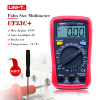 Free Shipping UNI T UT33C Palm Size Digital Multimeters Professional Electrical Handheld Tester LCR Meter Ammeter