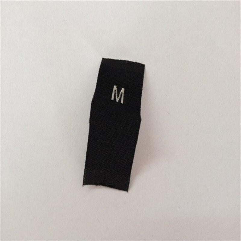 Étiquette de taille de vêtement personnalisée/étiquette tissée
