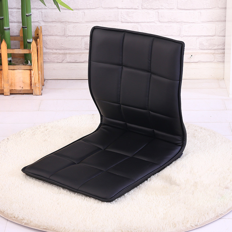 Living Room Chairs Floor Leather Chair 360 Degree Swivel Beige Sofa Living Room Furniture Japanese Meditation Backrest Legless Tatami Zaisu Chair
